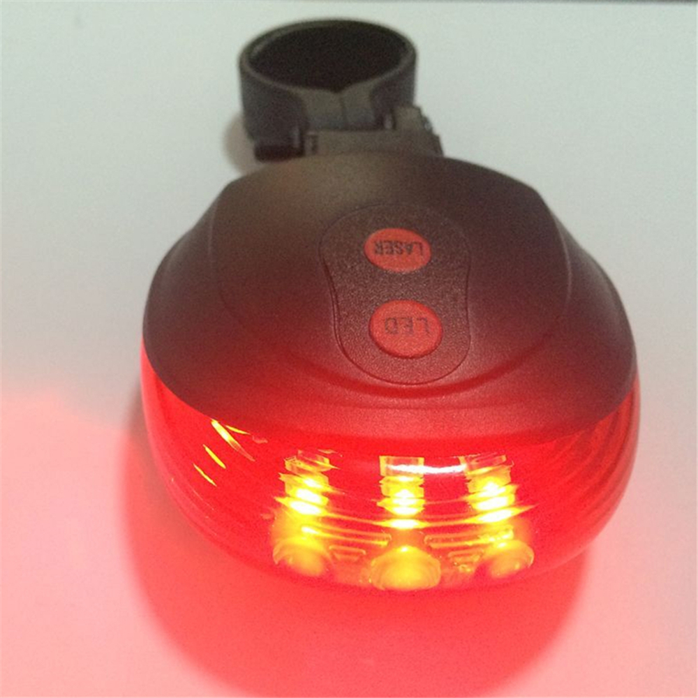 Bike light Bicycle light Waterproof Laser Tail Bike Safety Red Rear Warning Light Cycling Safety Caution Lamp 2 Lasers + 5 LEDs(China (Mainland))