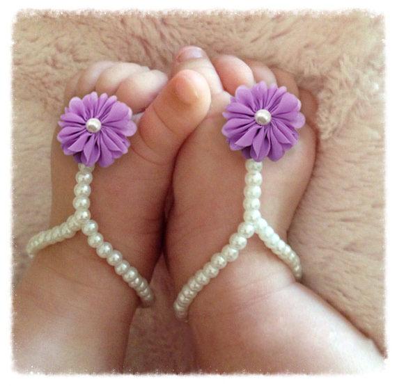 Розничная новорожденный ребенок сандалии DIY жемчужина шифона цветок впервые уокер ...