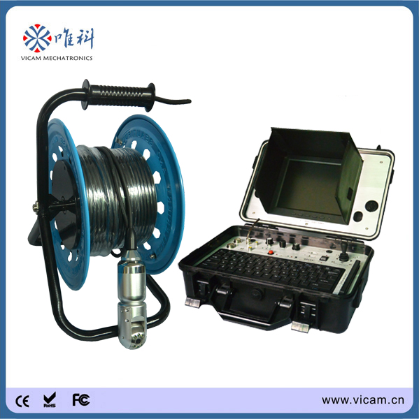 Borehole video camera, water well camera for underground water detection 100m(China (Mainland))
