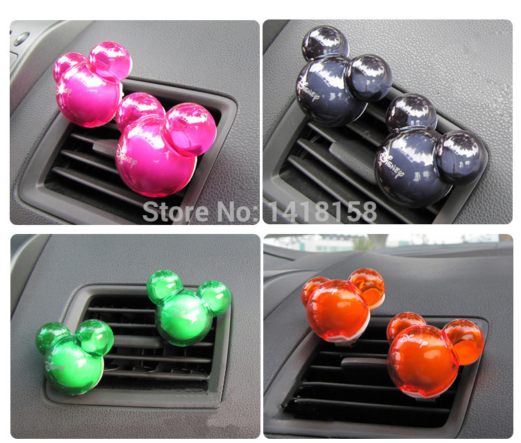 Candy Air Freshener Mickey Mouse Shape Fragrance car Vent outlet Perfume Diffuser Auto accessories 100 original XS08(China (Mainland))