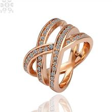 R001 Wholesale!High Quality,Nickle Free AntiallergicNew Fashion Jewelry 18K Real Gold PlatedRing For Women, Free Shipping(China (Mainland))