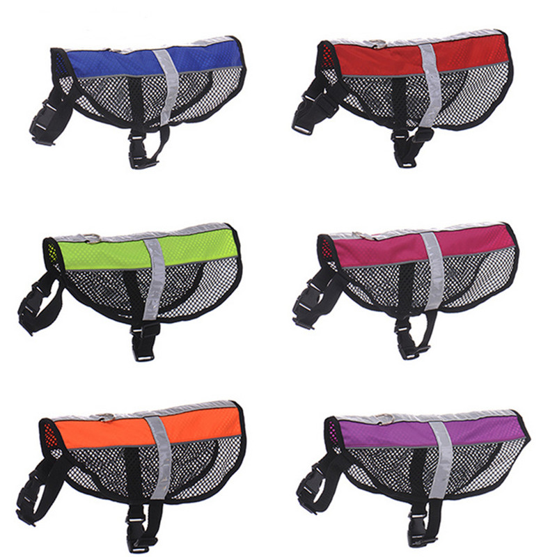 Cool Mesh Dog Harness Pet Products Reflective Breathable Service Dog Pet Harness Vest 6Colors S-L Free Shipping(China (Mainland))