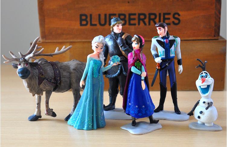 2016 NES Hot Toys For Kid Fashion 6 Pcs Set Action Figures Princess Elsa Anna Prince Anime Figures Juguetes TY-59(China (Mainland))