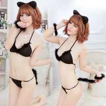 Hot Sexy lingerie babydoll nightwear Cosplay costume Cat #089