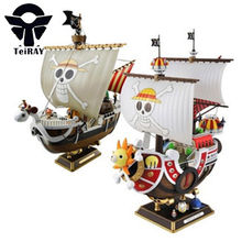 Anime One Piece Thousand Sunny Meryl Pirate Boat Figuras Pvc Action Figures Model Toys Kids boys toys Birthday boxed Gifts 11″