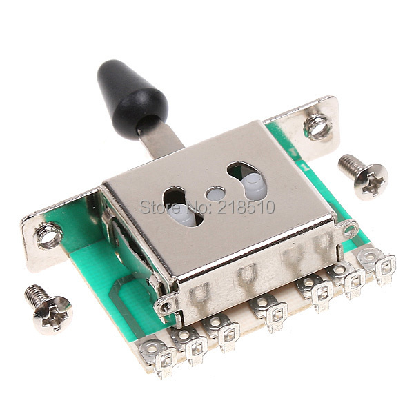 Small and Exquisite Appearance 5 Way Selector Electric Guitar Pickup Switches with 2 Mounting Screws(China (Mainland))