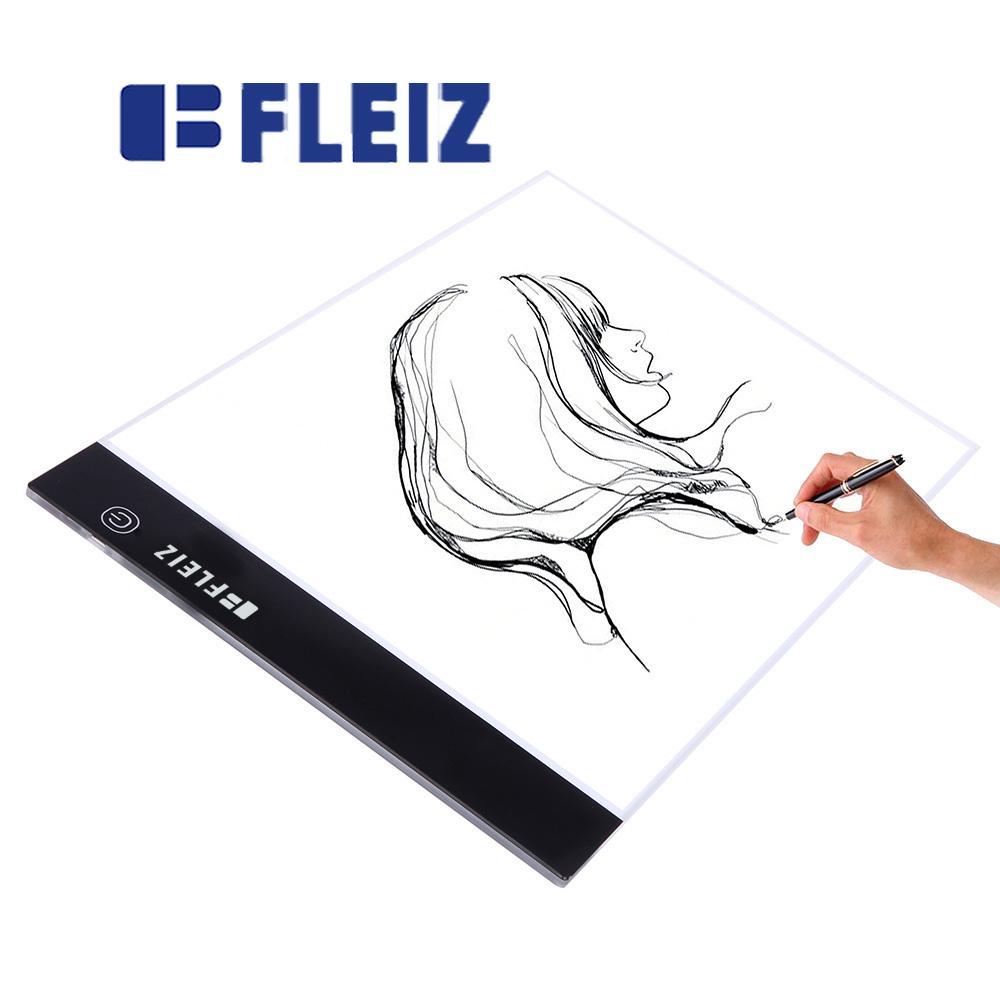 FLEIZ copy board A4J-K Tracing Light table light box DrawingStencil Board Light pad Brightness AdjustablePortable USB Interface(China (Mainland))