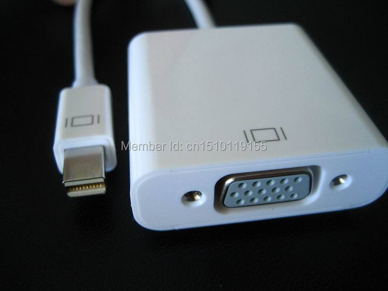 Free Shipping Thunderbolt Mini DisplayPort to VGA Converter for Apple Mac Macbook 0 2m