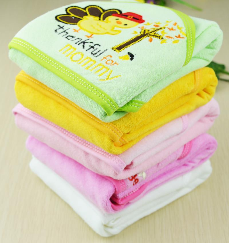 Baby Washcloths Bath Towel Wrap Cartoon Soft Cotton Hooded Kids Infant Good(China (Mainland))