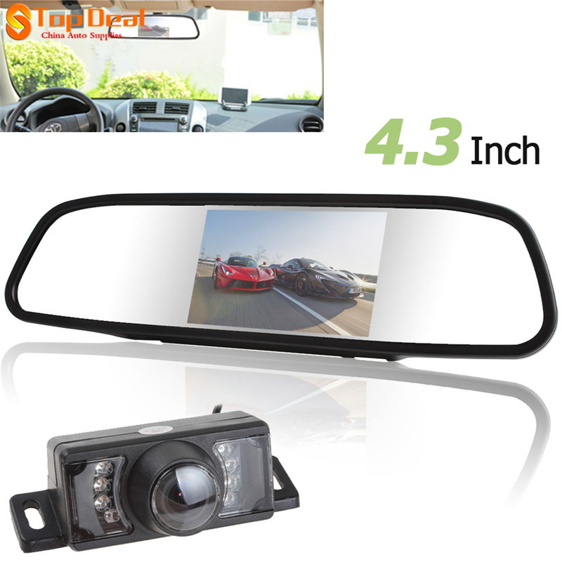 New Arrival 480 x 272 4.3 Inch TFT LCD Car Rear View Mirror Monitor Parking Rearview Monitor + 7 IR Lights Car Reverse Camera<br><br>Aliexpress
