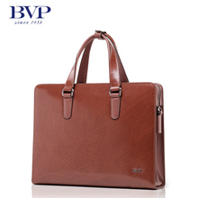 BVP New Arrive Men's Genuine Leather Vintage Frmal Business Lawyer Briefcase Messenger Shoulder Attache Portfolio Tote T1003(China (Mainland))