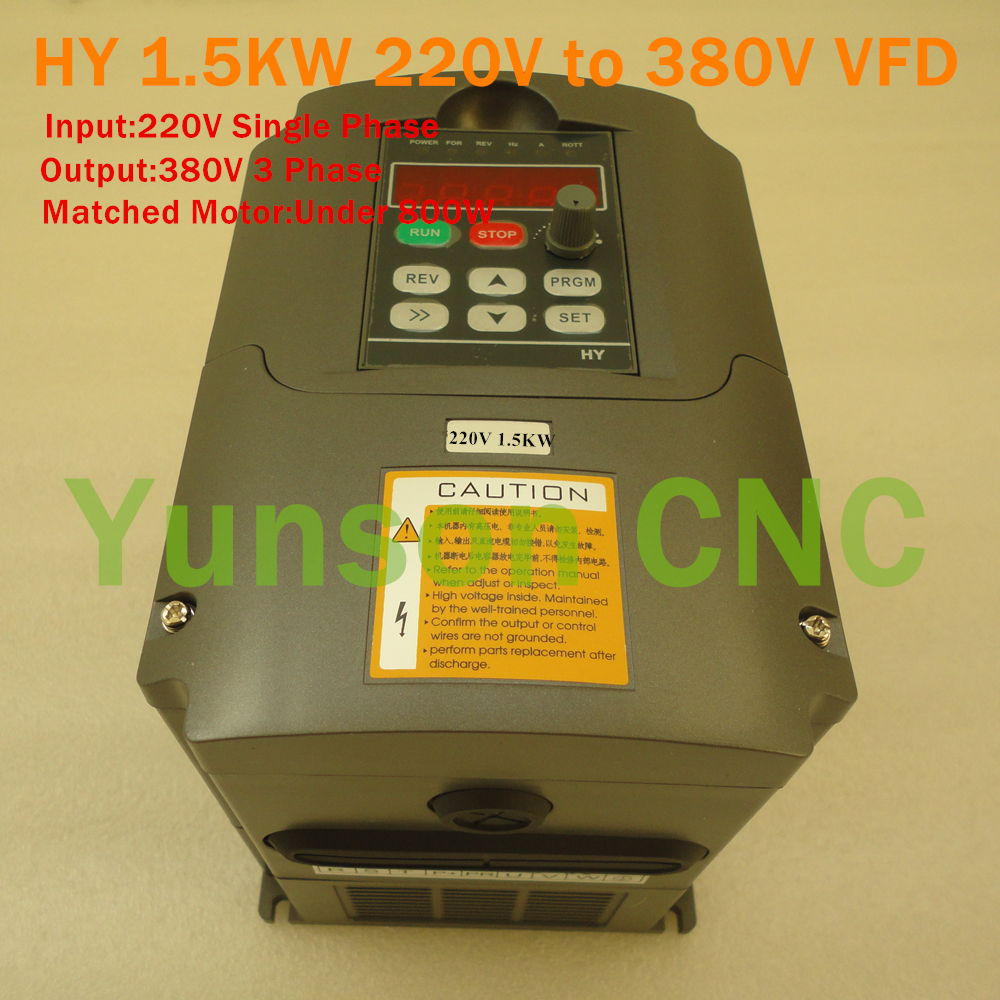 Input 220v single phase output 380v 3phase variable for 3 phase vfd single phase motor