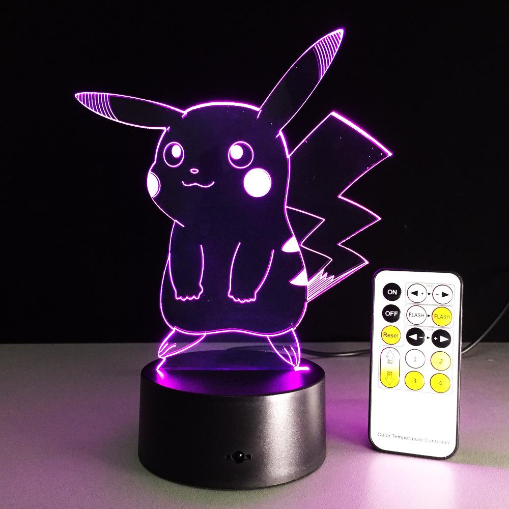 USB RGB лампа в виде Пикачу с сенсорным затемнением 3D ночной Светильник IMG_2174