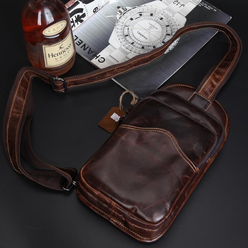 2015 New Arrival Genuine Leather Fashion Men Small Bag Cool Mens Messenger Solid Bags Shoulder Briefcase Morer 2M0077<br><br>Aliexpress