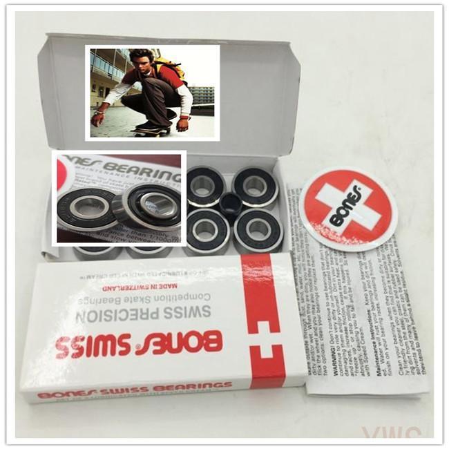 Buy 10 sets get 1 set free! skate Relamento red bones swiss Bones Bearing 8 bearings+ 4 spacers/set Abec11 bones skate 608 skate(China (Mainland))