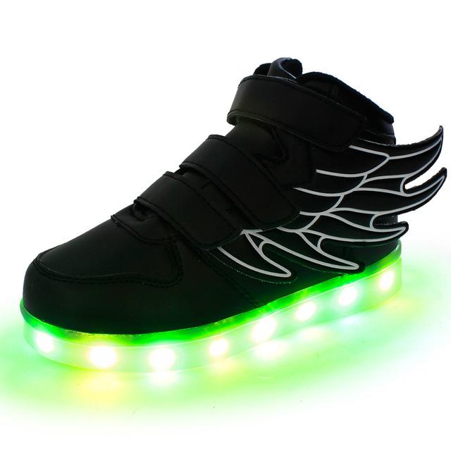 2016 последние осенью ПРИВЕЛО световой для kid дети повседневная shoes светящиеся usb зарядка мальчики и девочки кроссовки с 7 цветов свет новый