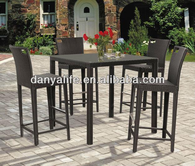 Dybar d5421 danya garden bar set bar stools tables outodor bar set outdoor furniture patio - Essentials for setting up a backyard bar ...