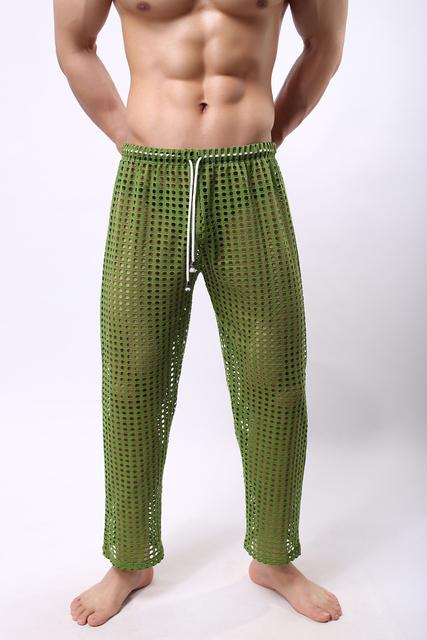 Мужская lucency веселый спортивный длинные брюки большие сетки брюки нижнее белье ...