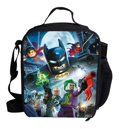 Милый 12-дюйм мини мальчики обед мешок ребенка бэтмен тепловой пакет на обед печать ...