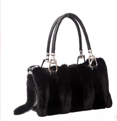 New mink fur leather female fur handbags hand the bill of lading shoulder slope across real natural leather bag mail(China (Mainland))