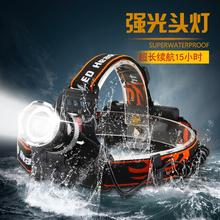 LED headlamp glare rechargeable waterproof head-mounted flashlight outdoor hunting night fishing catch head lamp (China (Mainland))