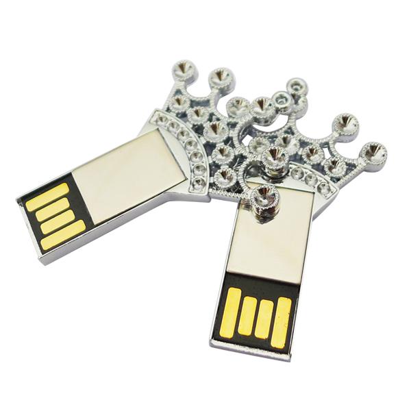 Silver Metal Key Jewelry Crown Shape Pen Drive U Disk Storage Memory Stick 1gb 2gb 4gb 8gb 16 gb super mini usb flash drive(China (Mainland))