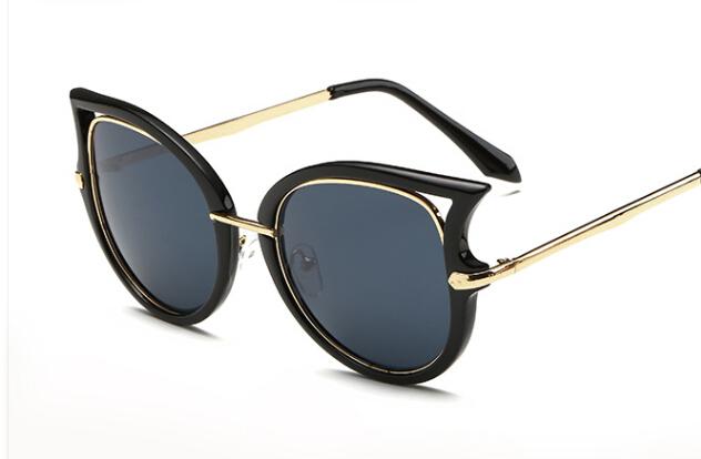 2015 Cat eye sunglasses women brand designer gafas oculos de sol feminino masculino grau metal sun glasses original sunglass(China (Mainland))