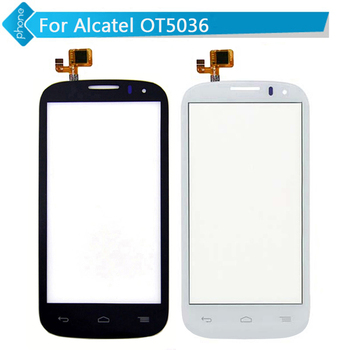 Original For Alcatel One Touch Pop C5 OT5036 5036 5036D OT5036D Touch Screen Digitizer Glass BLACK or WHITE
