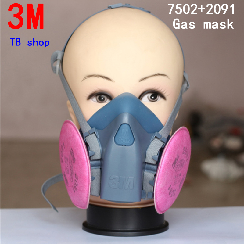 3M 7502+2091 respirator gas mask high quality filter mask against Car manufacturer Spraying Painting protective mask(China (Mainland))