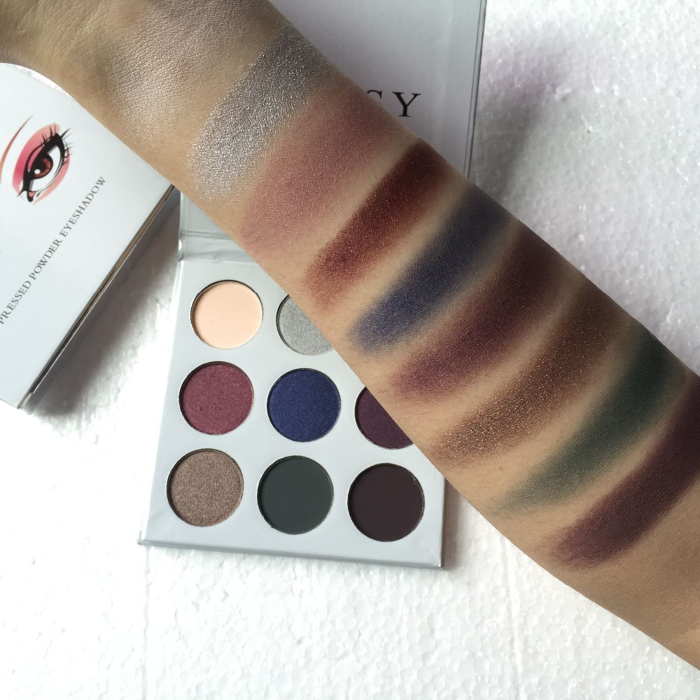 The Bronze Palette Kyshadow Make Up Cosmetics Burgundy Eyeshadow Palette Shimmer and Shine 9 Colors In 1 Matte shadow Pallete