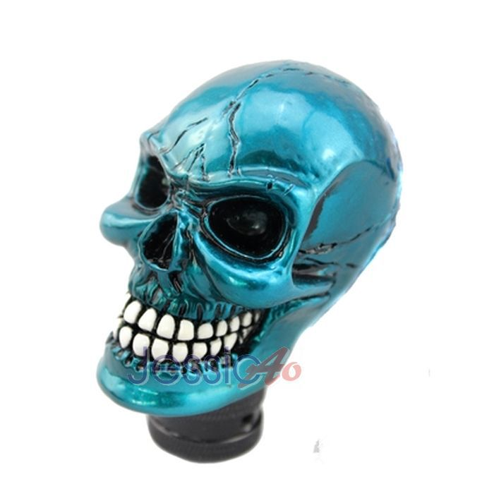 Blue Gear Knob Blue Skull Gear Shift Knob