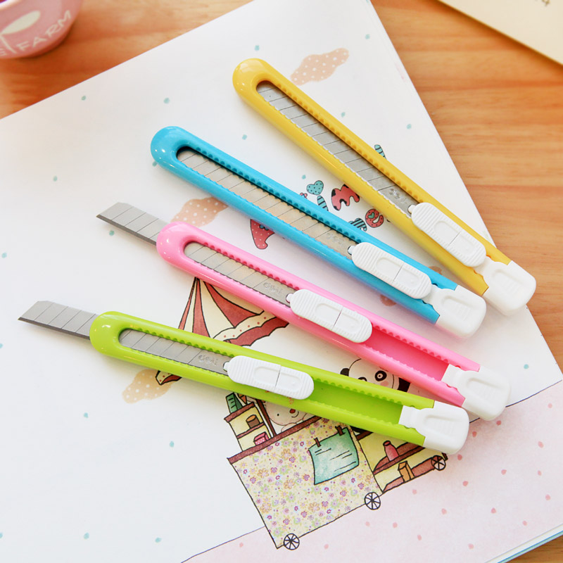 Hot Design Creative Mini Portable Small Size Art Knife Open Box Letter Office Cut Paper Colorful Useful Knives Children Class PL(China (Mainland))
