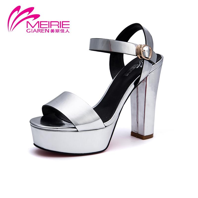 2015 Aokang Summer Style Vintage Shoes Women Sandals Sexy Platform sandals red bottom high heels Shoes sandalias plataforma