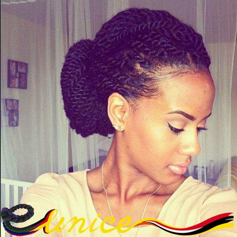 Eunice Brand Crochet Hair Full-Size Havana Mambo Twist Crochet Braid Hair Extension Marley Braids Synthetic Crochet Box Braids(China (Mainland))