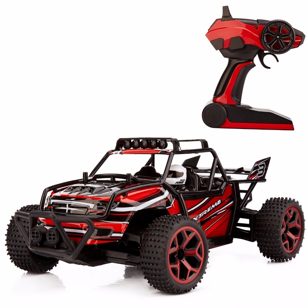 333-GS04B RC Car Off Road Vehicle High Speed 20km/h 1:18 Scale 4x4 Fast Race Truck 2.4 GHz Remote Control 4WD RC Car Hobby Red(China (Mainland))