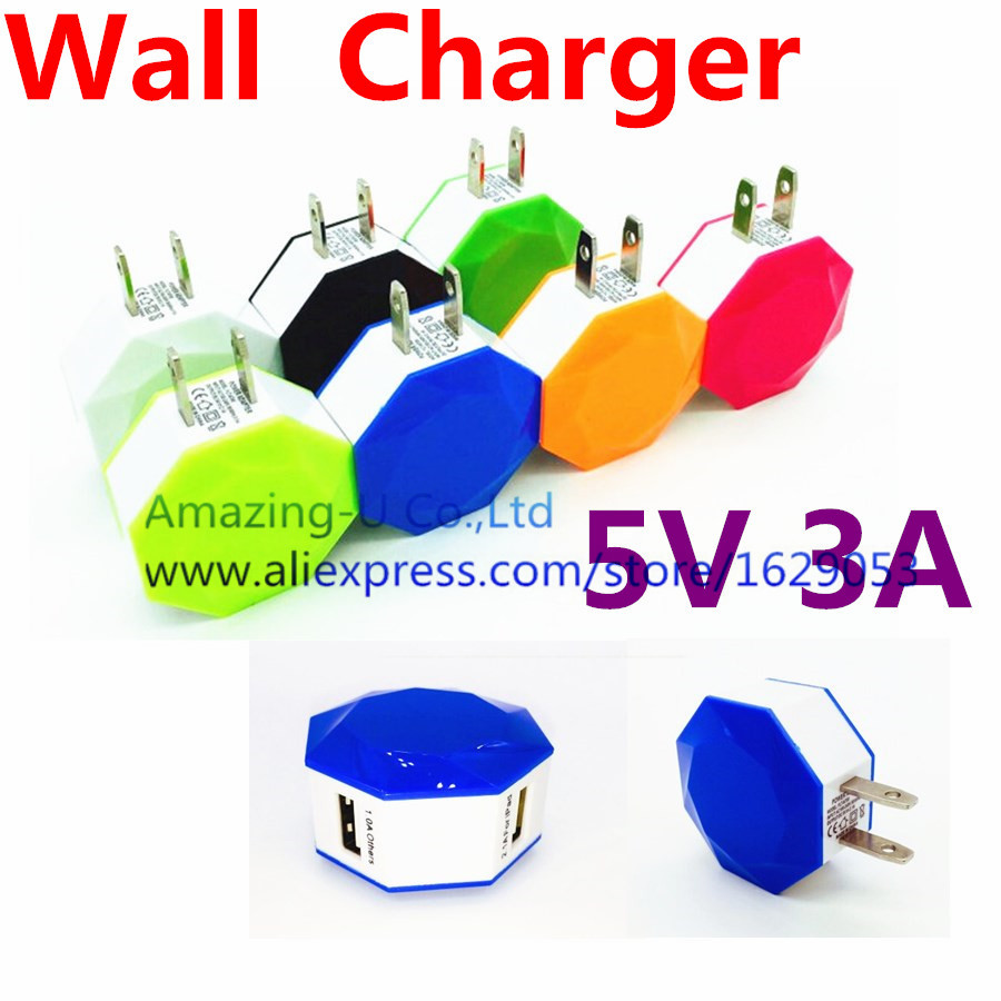 Universal Wall Charger 5V 3A AC Power US Version Plug Travel Wall Charger Adapter For iphone 6S For Samsung S6 Edge plus For HTC(China (Mainland))