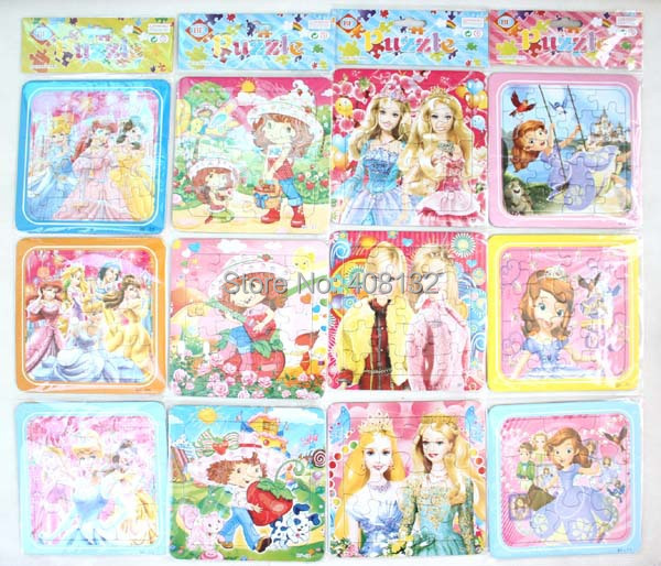 Wholesale!Cartoon Paper Jigsaw Puzzles Learning & Education Toy For Kids 300pcs(100sets)(China (Mainland))