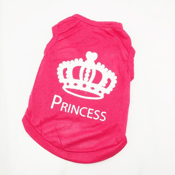 Pet Dog Vest Clothes XS S M L T-shirt Cat Puppy Princess Crown Shirt Dog Apparel Free&Drop Shipping(China (Mainland))