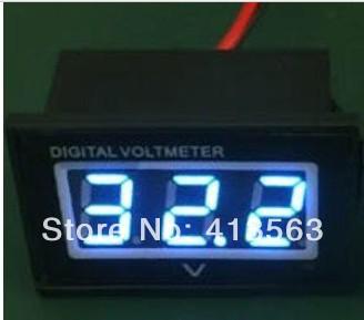 1pcs/lot 0.4 Waterproof LED Digital Voltmeter 0-30V 12V 24V Blue Car Motor Motorcycle Panel Meter #V012B 00015<br><br>Aliexpress