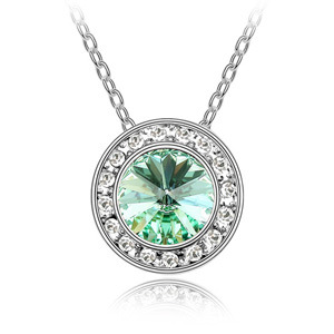 Europe and USA top sell retro Vintage jewelry woman fashion Platinum / gold plated crystal pendant Swarovski Elements necklace(China (Mainland))