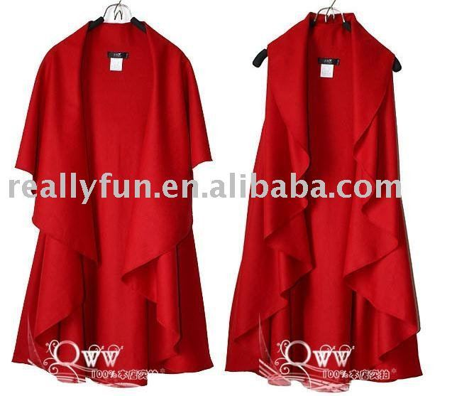 Free Shipping/Hot Sale designer Women's Fashion Wool Coat, Ladies' Noble Elegant Cape/Shawl