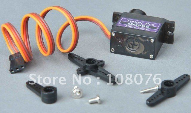20piece/lot Tower Pro Metal gear digital servo 9g MG90S micro servo for RC helicopter