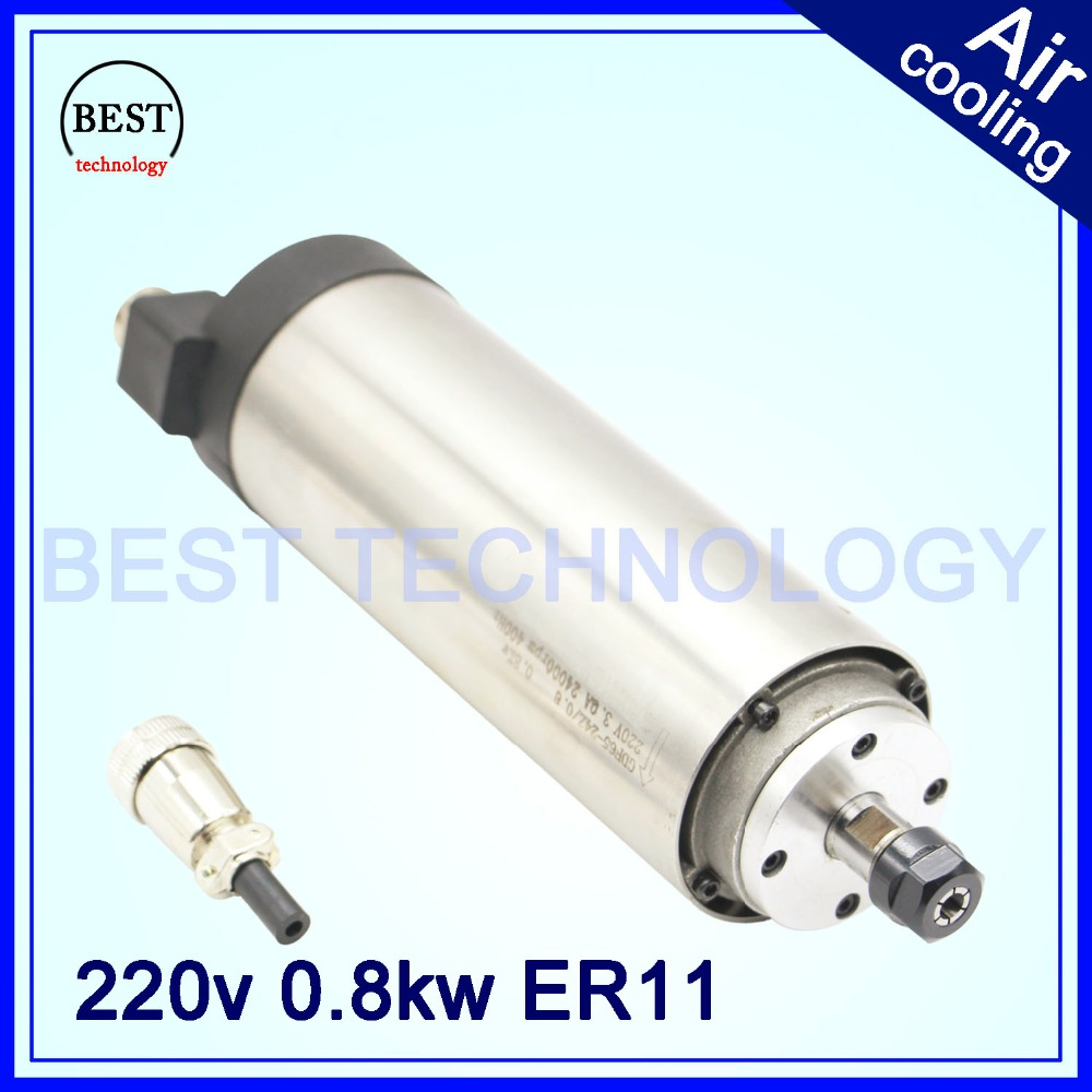 Cnc router spindle motor 0 8 kw air cooled spindle motor for Best router motor for cnc