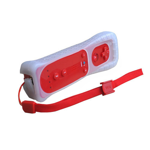 Red Motion Sensor Remote Controller + Wired Nunchuck Combo for Nintendo Wii Console(China (Mainland))