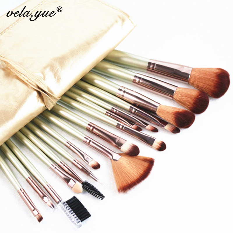 Professional Makeup Brushes Set 16pcs Cosmetic Tools Kit Synthetic Hair Anti Allergic Free Shipping