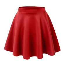 Hot Sales New Lady Girls High Waist Skater Flared Pleated Mini Skirt