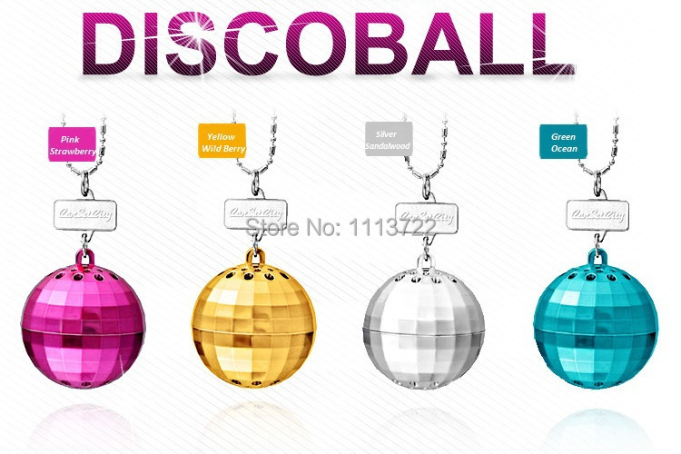 CarSetCity Luxury DiscoBall Hanging Fragrance Brand Perfume Fragrance Parfum Auto Accessory Car Styling Best Air Freshener(Hong Kong)