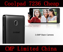 Free Shipping Free 3 Gifts Coolpad 7236 4.5 Inch MSM8212 Quad Core Android 4.3 512MB RAM 4GB ROM 3G GPS Cell Phone(China (Mainland))