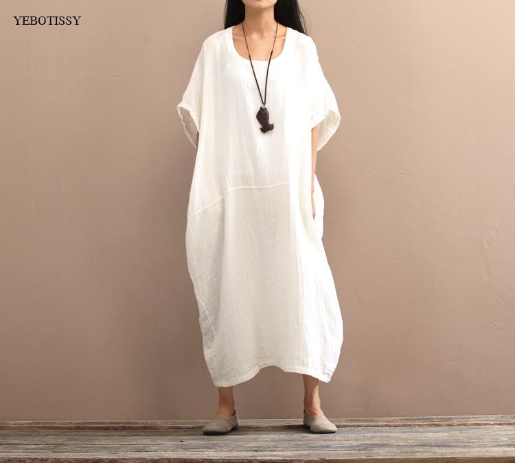 Хлопчатобумажные платья длинные