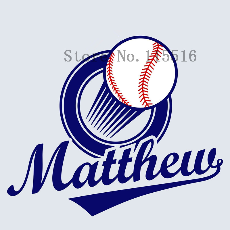 Wall Decal Baseball ball Art Decals Personalized custom Name-in Wall ...